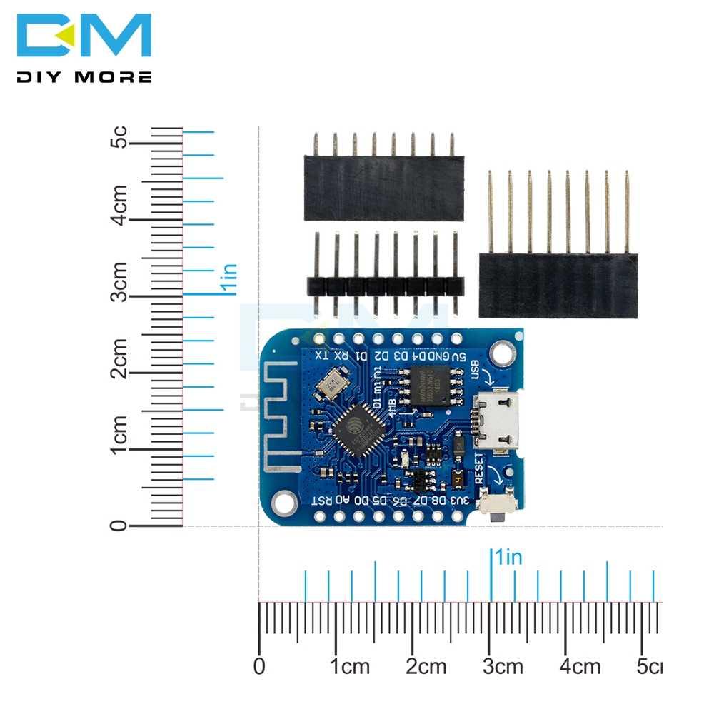 لوحة تطوير شبكة الإنترنت اللاسلكية Wemos D1 Mini V3.0 3.0 تعمل بالواي فاي ESP8266 CH340 CH340G 4MB لـ Arduino Nodemcu V2