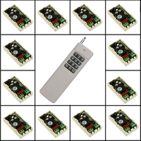 AC 220 V 12CH 10A Relais Fernschalter Licht Lampe LED Motor Maschine RF Empfänger 200 ~ 1000 Mt Sender Wireless-schalter 315 433 Mhz