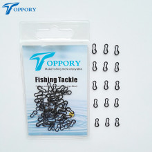 Toppory 50PCS 100PCS/Bag Matte Black Carp Fishing Multi Clips Quick Chang Link Swivel Snap clips  Carp Fishing Terminal Tackle