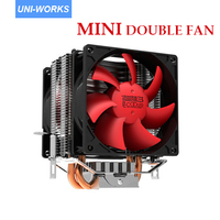 PC Cooler Red Ocean Mini Plus Computer CPU Cooler Heatpipe 80mm PWM Cooling Fan For Socket