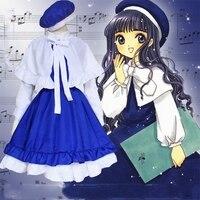 Sakura Card Captor Cosplay Costumes Halloween Girls Naruto Kyoko Cardcaptor Sakura Kawaii Princess Maid Lolita Dress