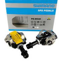 Shimano PD-M540 SPD pedales de bicicleta de montaña mtb bicicleta Pedal XC automáticos bicicleta pedales de bicicleta camino de MTB de Pedal