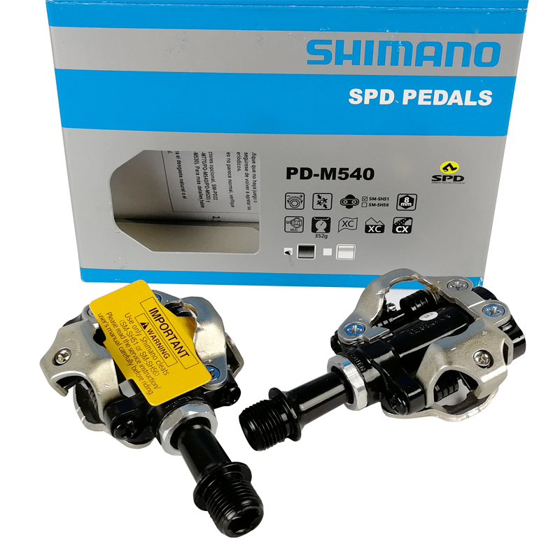Shimano SPD PD-M540 pedales bicicleta mtb Mountain Bike Pedal Clipless Pedais Da Bicicleta Da Bicicleta ATV XC Trail MTB Pedal Automático