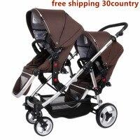 Twin kinderwagen goede baby GB bgb ezel grote ruimte kinderwagen twin baby trolley dubbele kinderwagen caritos d bebe