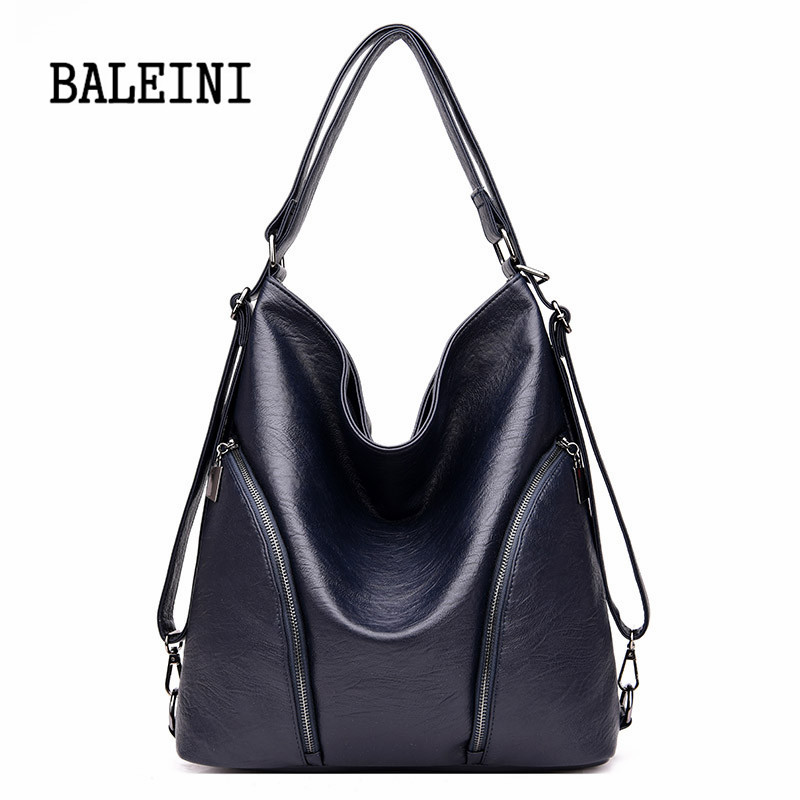 Image 5 - Genuine Leather Handbags Big Women Bag High Quality Casual Female