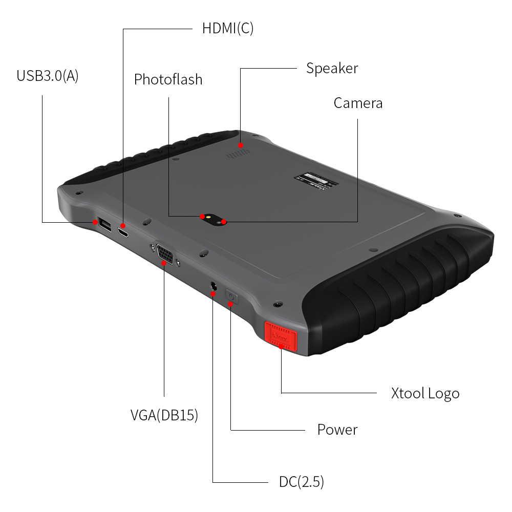 XTOOL A80 автомобильный диагностический OBD2 ключевой программатор регулировка одометра автоматический EPB DPF TPMS фара код вин ридер бесплатное обновление