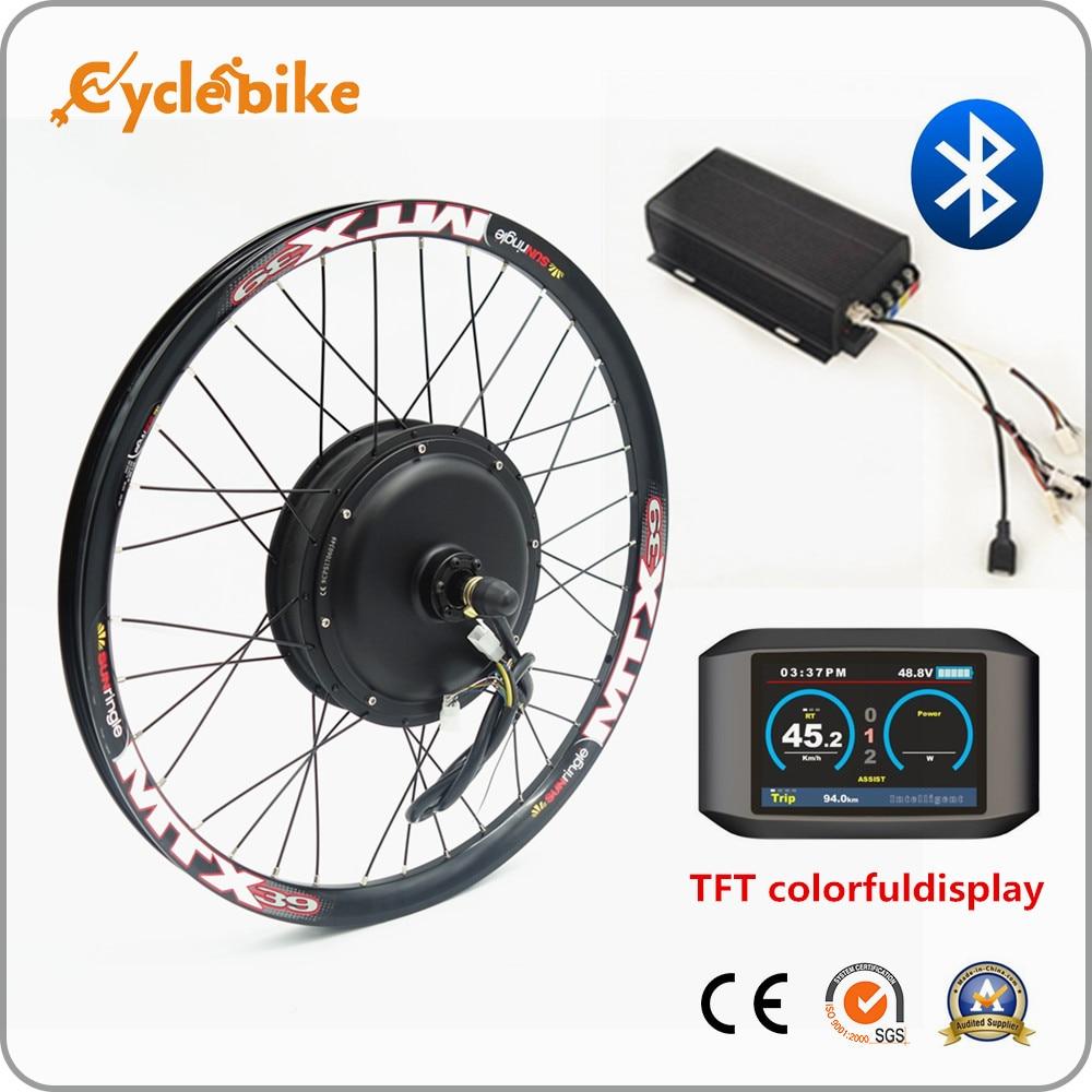Bluetooth! Grande puissance 72 v 3000 w kit de vélo électrique 3kw kit de conversion ebike avec TFT affichage coloré