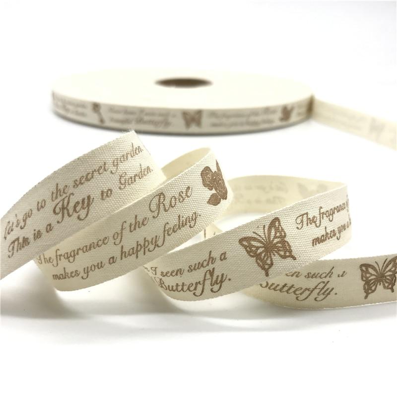 5 ярдов/лот 15 мм хлопчатобумажная лента ручной работы дизайн печатные хлопковые ленты для свадьбы Рождественское украшение DIY швейная ткань - Цвет: 25