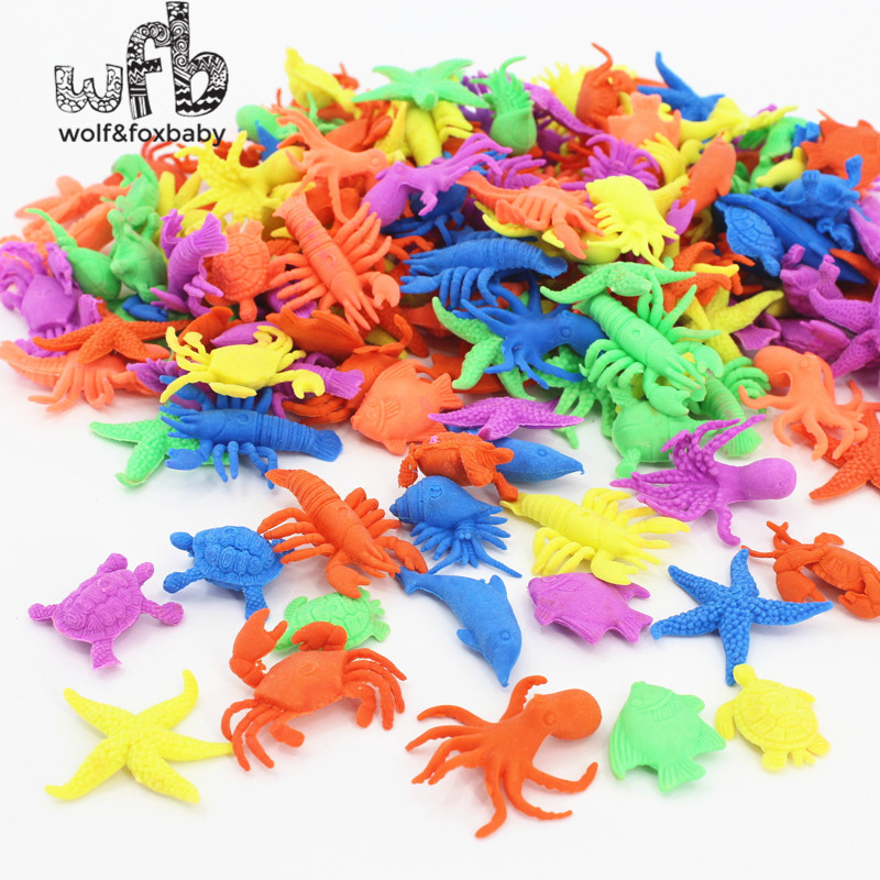 1kg/bag ocean animal growing toy wholesales Marine biology Plastic toys sea animals toy Soaking expansion 2015 hot sale summer bigger size soaked absorbent toy growing animals funny kids swell toy sea