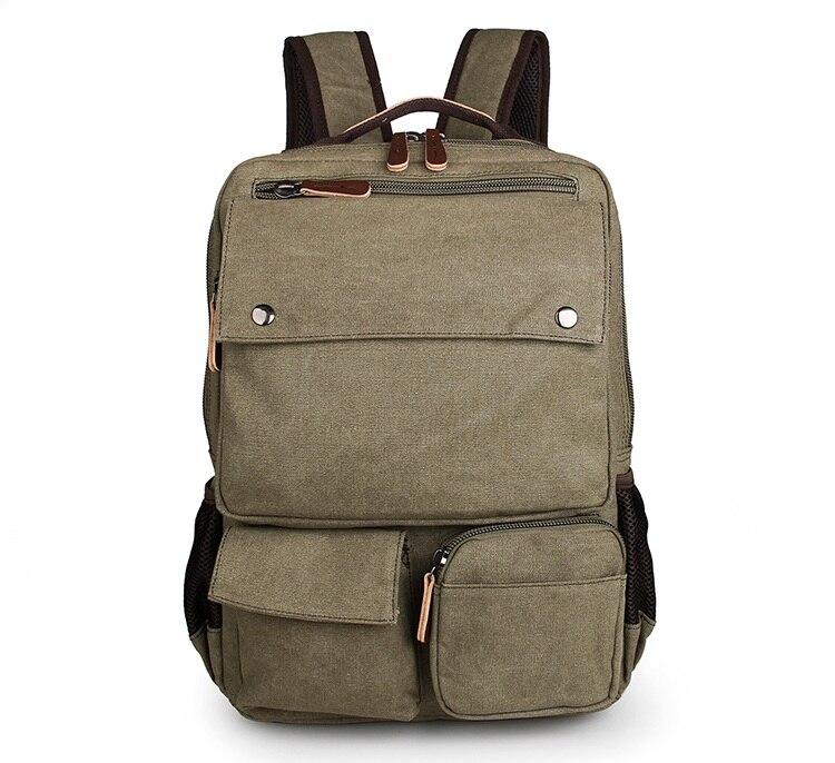 Здесь продается  Cheap Durable Canvas Unisex Laptop Backpack Travel Rucksack Army Green # 9022N  Камера и Сумки