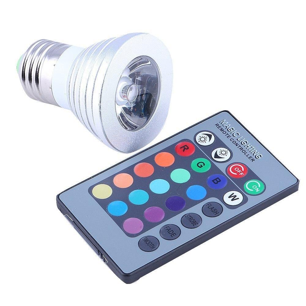 6set 3w E27 Rgb Led Flood Light 16 Colour Rgb Spotlightac 86 265v