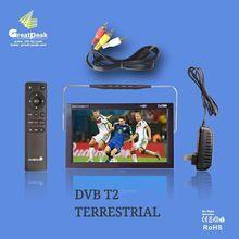 Venta caliente 9 pulgadas portátil dvb t2 tv de Regalos de Navidad de Niza para Padres E Hijos