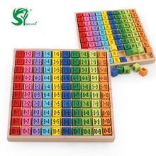 Montessori Educational Holzspielzeug für Kinder 9 9 Multiplikation Tabelle Math Spielzeug 10 * 10 Abbildung Baby lernen Arithmetik Lehre