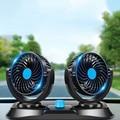 12В/24В двойной мощный Бесшумный большой ветровой вентилятор летний автомобильный внутренний охлаждающий Электрический вентилятор автомоб...