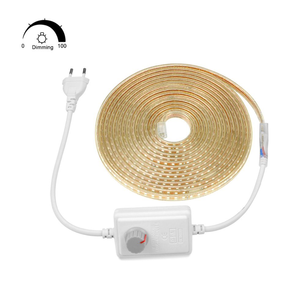 AIMENGTE Super Bright SMD2835 Dimmable 220V LED Strip Light 1M 5M 10M 15M 20M 25M Kitchen AIMENGTE Super Bright SMD2835 Dimmable 220V LED Strip Light 1M/5M/10M/15M/20M/25M Kitchen Outdoor Garden Lamp Tape with EU Plug