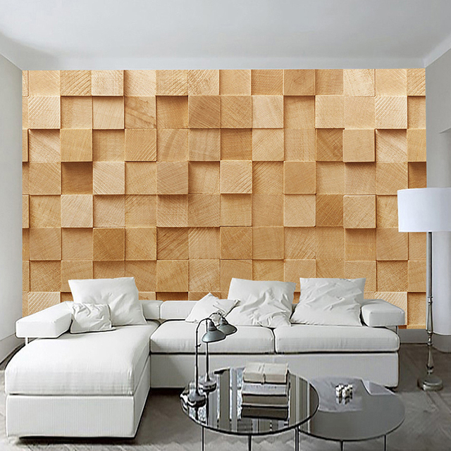 Marvelous Modern Simple 3D Stereo Yellow Square Geometry Photo Wallpaper Bedroom  Living Room Abstract Art Style Interior