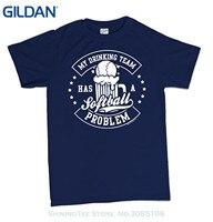 GILDAN Men Brand Printed 100 Cotton Tshirt My Drinking Team Has A Softball Problem T Shirt