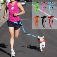 1PC Great Easy Adjustable Handsfree Dog Pet Walking Running Jogging Lead Leash Waist Belt Chest Strap Gift Pets Supplies(China)
