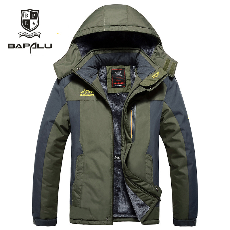 autumn and winter new male Plus velvet thickening warm coat jacket 5XL6XL7XL8XL9XL Men hooded casual waterproof jacket coat