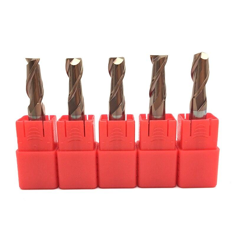 5PCS HRC60 2Flute 8mm Solid Carbide Endmill D8x60L D8x75L D8x100L Standard Length Side milling Slotting Profiling