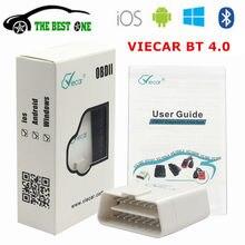 Viecar original elm327 bluetooth 4.0 v1.5 obd2 ferramenta de diagnóstico do carro 4.0 aer elm 327 wifi para ios android obdii scanner