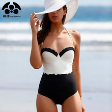 2018 Summer Newest Padded Push Up Bikinis Set Strapless Swimwear Sexy Women Swimsuit Maillot De Bain Halter Bathing Suit Beach(China)