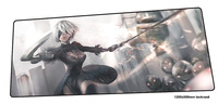 nier automata mouse pad gamer anime 120x50cm notbook mouse mat gaming mousepad large New arrival pad mouse PC desk padmouse