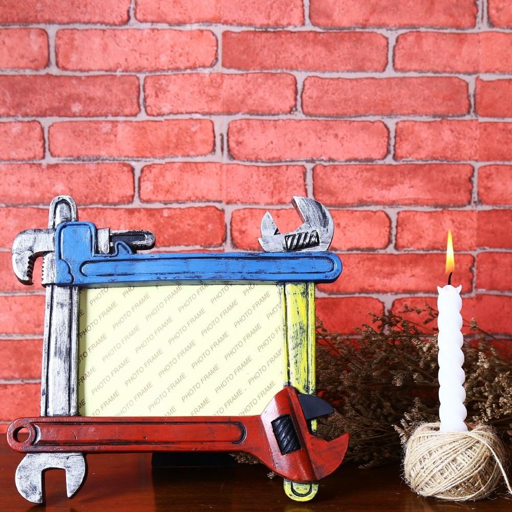 LOFT Vintage stil Kreative Schraubenschlüssel Harz Foto Rahmen Tools ...