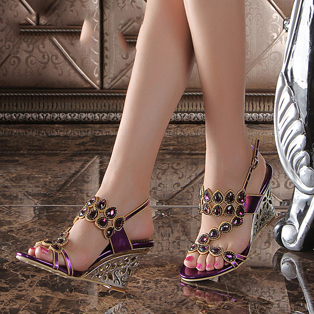 2017 New High Heels Wedges Sandals Most Comfortable Summer Shoes ...