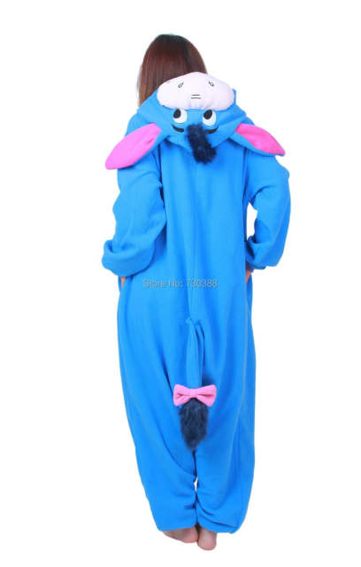 Halloween Cosplay Adult Anime Animal Eeyore Donkey Pajamas One Piece Unisex  Onesie Party Costumes Sleepwear Jumpsuit 5eb63bb62b3c