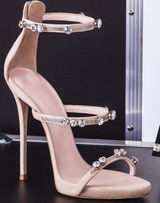 Soirée De Strass Boucles Chaussures À Chaussure Cheville Mode Femmes La Noir Sexy Bride Mariage Sandales Habillées argent Spartiates rose Diamant 2019 xqISX0