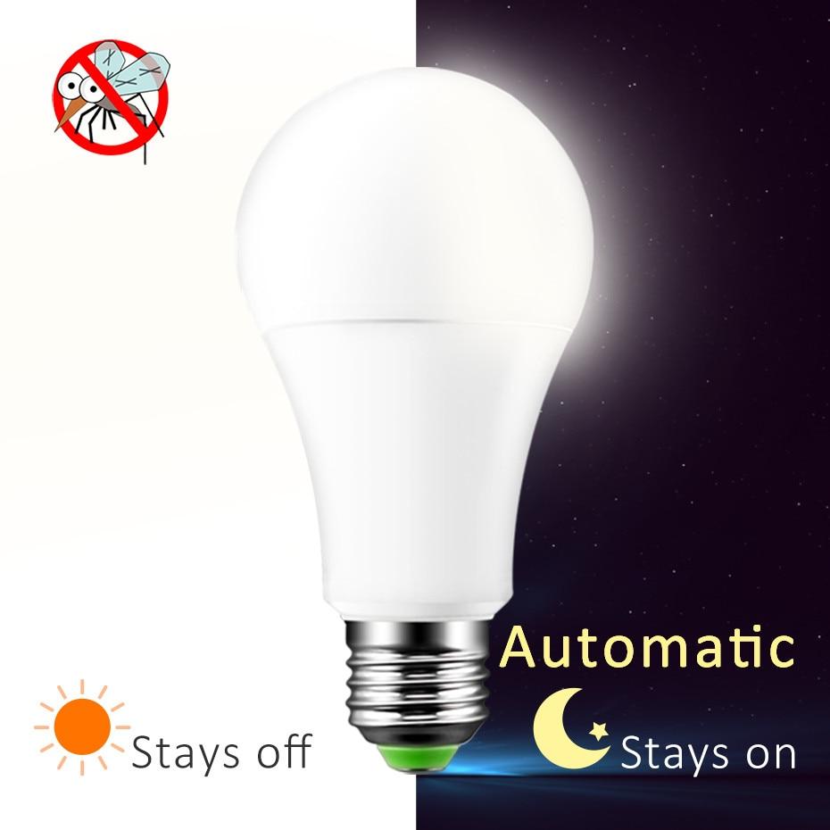 LED Sensor Bulb E27 7W 12W 220V 110V Dusk To Dawn Light LED Night Light Sensor Lamp On/Off Led Light Bulb For Porch Hallway цена