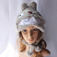 Anime Cartoon Cute My Neighbor Totoro Plush Hats Beanie Cosplay Winter Cap Bonnet Hat Lady Gorros for Women Men Children