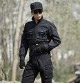 Высокое качество Черный военной форме Одежды Бренда военные вентиляторы Тактические Униформа тренировочные костюмы, Куртка + Брюки