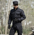 High quality Black Clothing military uniform Brand military fans Tactical Uniform training suits,Jacket+Pants