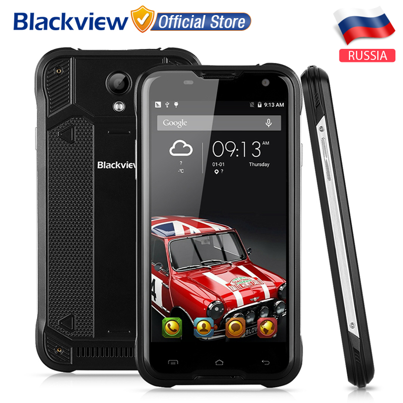 Цена за Судов Из Москвы! Blackview BV5000 5.0 дюймовый MTK6735 Quad Core Android 6.0 2 ГБ + 16 ГБ 8MP CAM Водонепроницаемый IP67 4 Г Смартфон