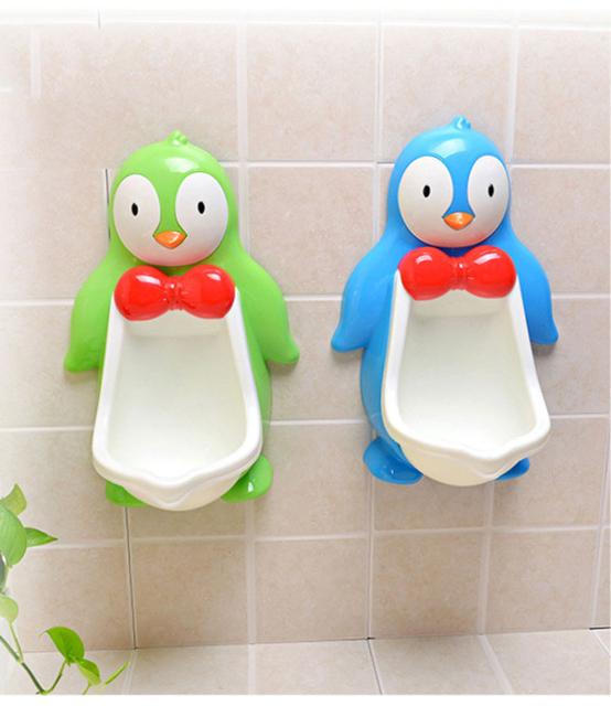 Grande Pinguim Do Bebê Potty Training Urinal Boy Wall-hung Wc Crianças Meninos Criança Mictório Trainer Xixi Higiênico Treinamento Potty Portátil penico