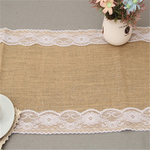 Natural Jute Table Cover with Lace