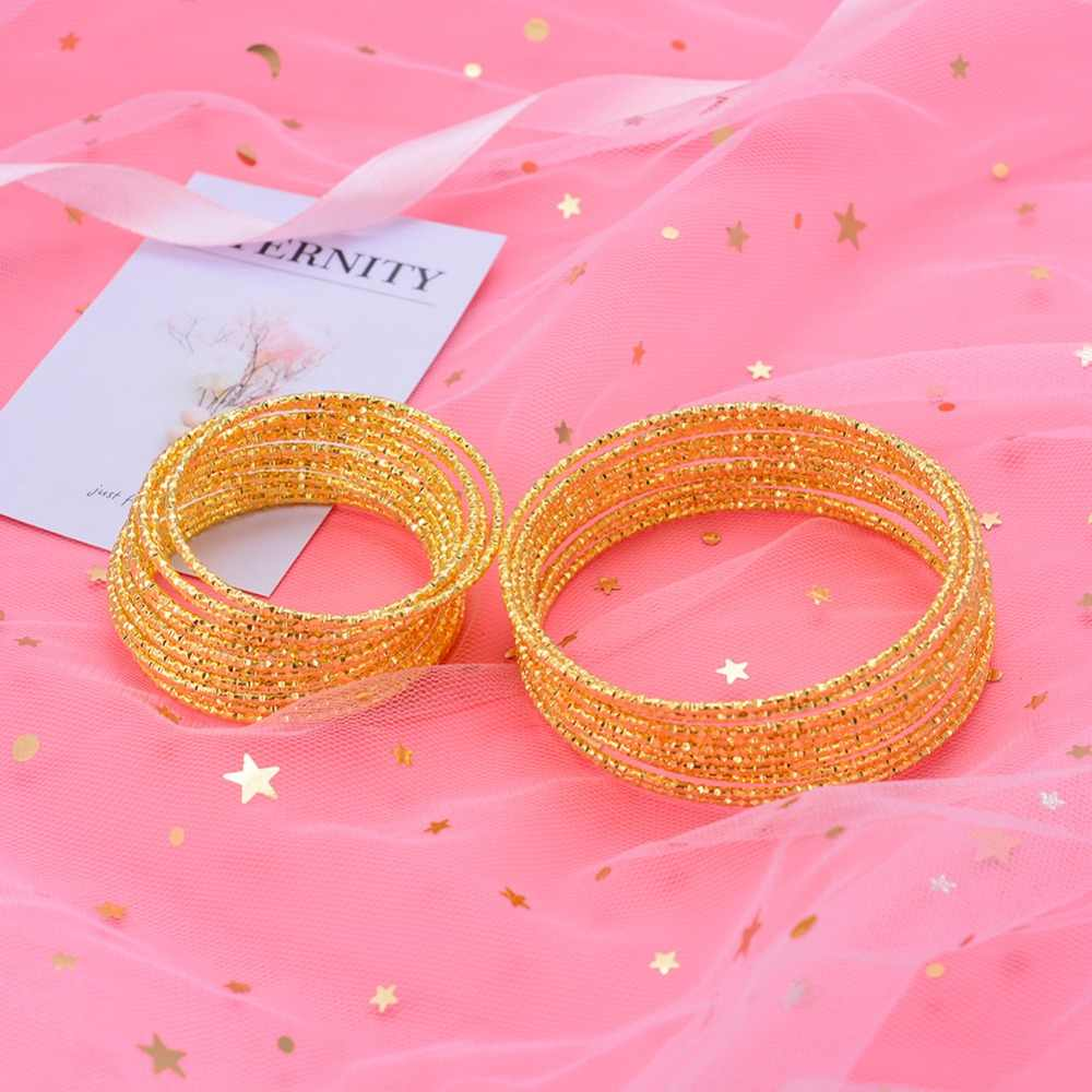 WANDO 12pcs/lot Small baby Bangle New Fashion Accessories Jewelry Copper Cute brecklace For Women Girl Nice Gift wb140