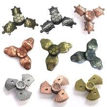 9 three color retro Fidget Spinner Metal