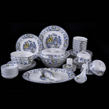 Jingdezhen ceramic tableware bowl set 56 bowl dishes porcelain tableware tableware set