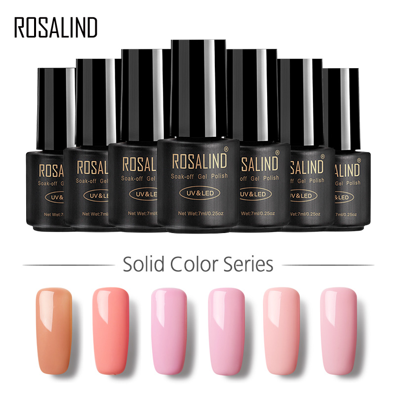 ROSALIND Gel 1 Nail Art 7ML <font><b>58</b></font> Colorful 01-<font><b>30</b></font> UV LED Soak-off Gel Nail PolishNail Gel Polish Semi Permanent Gel Varnishes image