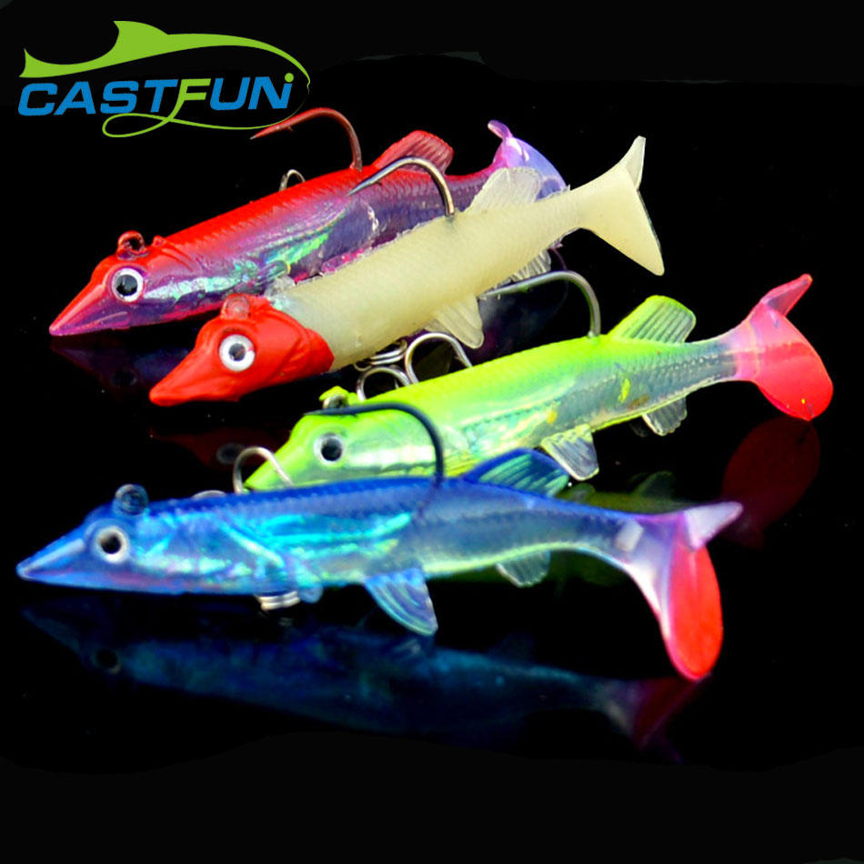 6cm 3D Augen Künstliche Fischen lockt lebendige Fischen lockt Minnow Baits