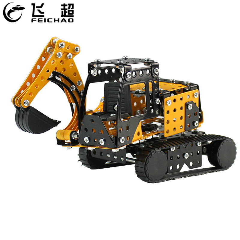 Truck Excavator Crane Forklift Block Robots Toys Kid Gift Car Robot Model Puzzle