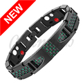 Channah 2017 Titanium Wristband 4in1 Bracelet Magnetic Jewelry Black Green Carbon Fiber Men Germanium Free Shipping Bangle Charm