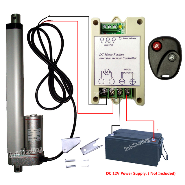 US $77 43 15% OFF|Multi function DC 12V 14mm/s Linear Actuator 200mm 8