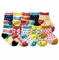 12 par/lote niños calcetines calcetines de bebé recién nacido niño niña de invierno informal Meias Infantil zapatillas bebé, calcetines antideslizantes calcetines del piso calcetines de los niños