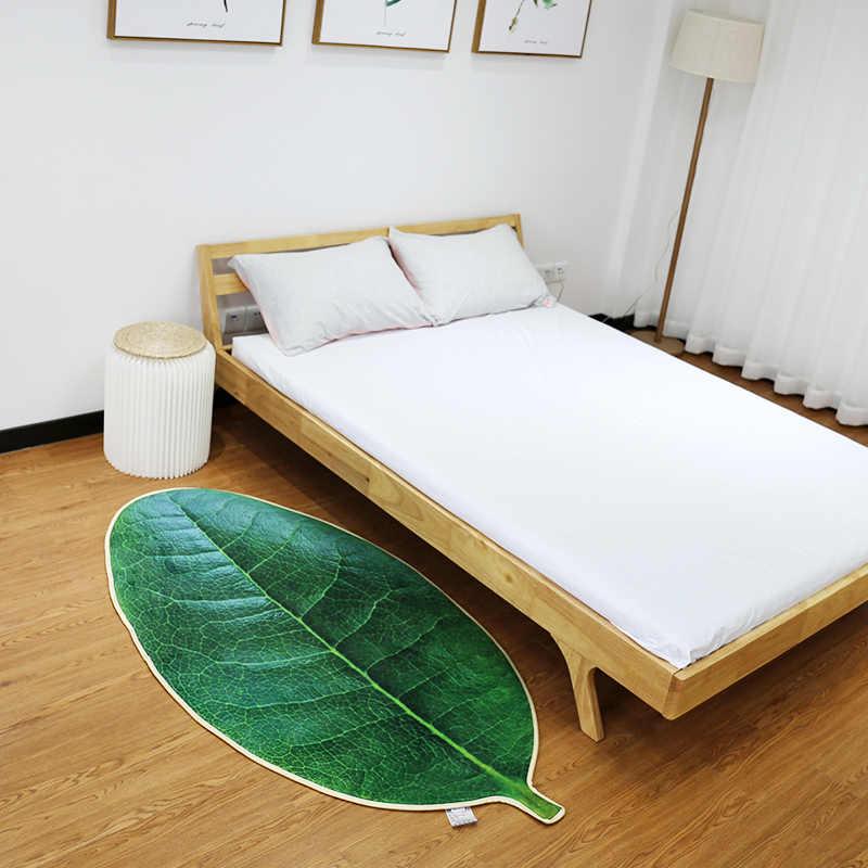 Zielone liście sypialnia kuchnia lampka nocna dekoracyjne maty maty do kąpieli maty w łazience dywan łazienkowy mata toaletowa