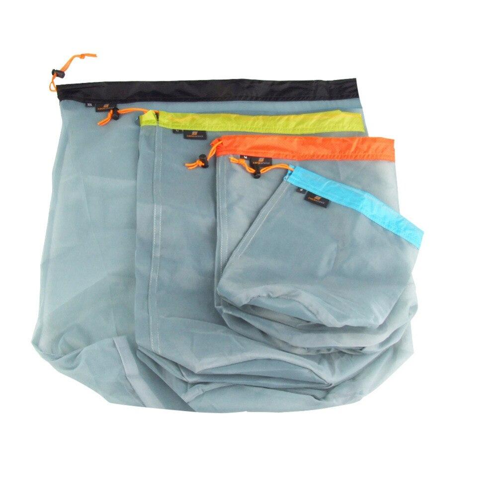 Открытый Кемпинг Сверхлегкий сетки Sack шнурком для спальный мешок путешествия отделка сумка для хранения вещей Дорожные наборы S/M/ l/XXL ...