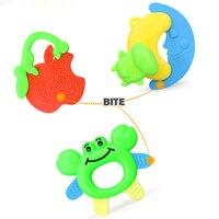 Leuke Baby Rammelaars Hand Hold Jingle Schudden Bel Speelgoed Cartoon Bijtring Muziek Greep Mobiles Zachte Crib Pasgeboren Baby 0- 12 maanden 2
